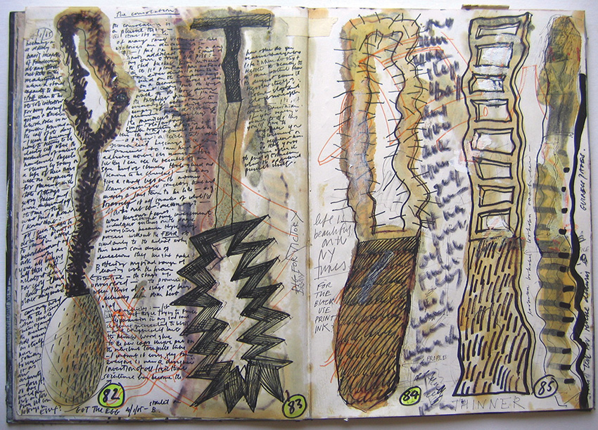 Drawn to Sculpture - Doug Cocker drawing from sketchbook