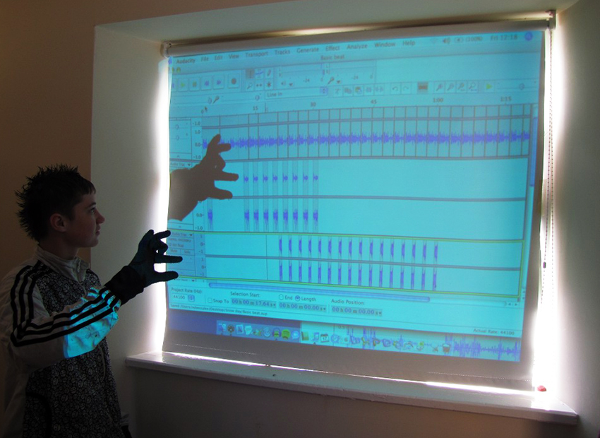 Editing sounds in Audacity, Rebecca Lee and students from The CE Academy, 2010