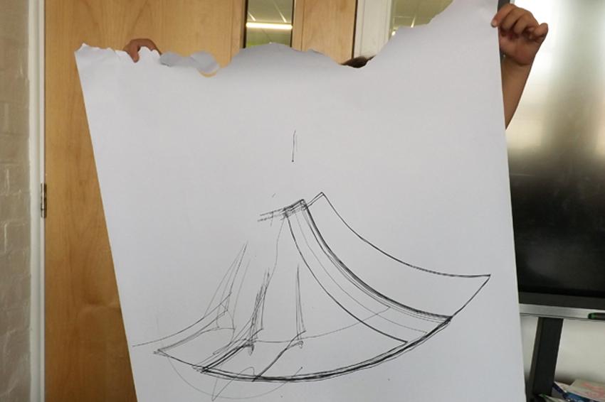 Newton Road School machine drawing 3